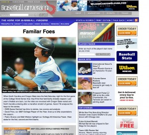 2007: Oregon State and North Carolina reprise their College World Series final matchup