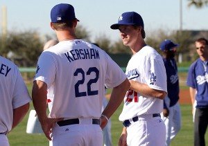 Clayton Kershaw and Zack Greinke were the only teammates among the 16 starting pitchers in this year's All-Star Game. (Photo by Bill Mitchell).