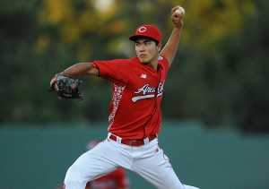 Hawaiian high school ace Kodi Medeiros has risen up draft boards with an unusual mix of pitches.