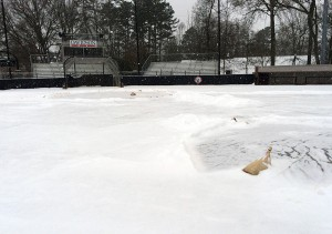 Davidson was snowed out. (Courtesy of Davidson College).