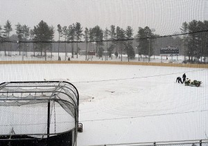 Davidson's opener was snowed out. (Courtesy of Davidson College)