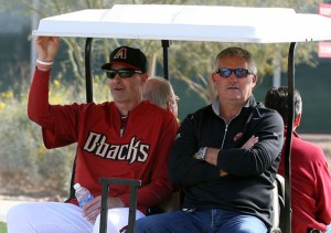 Kevin Towers and Kirk Gibson know expectations are high. (Bill Mitchell).