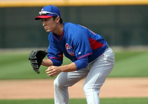 If Tsuyoshi Wada doesn't make the Cubs, the CBA protects him (Photo by Bill Mitchell).