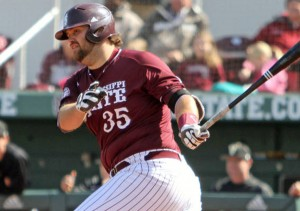 Wes Rea's two-run double was the key hit. (Courtesy of hailstate.com)