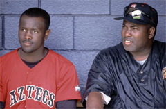 Anthony and Tony Gwynn (Photo by Larry Goren).