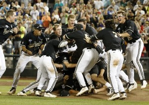 Vanderbilt celebrates its first national title (photo by Joe Howell)