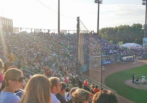 No neckties, no waves, all kinds of fun for St. Paul Saints fans (Photo by J.J. Cooper).