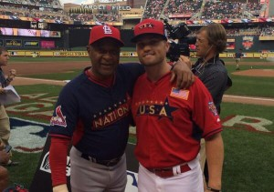 James Ramsey with Ozzie Smith at the Futures Game.