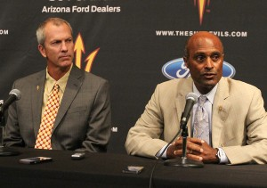 Tracy Smith (left) and Ray Anderson have a big ambitions for ASU