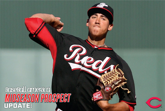 Reds righthander Robert Stephenson