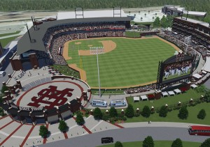 A rendering of Mississippi State's master plan for Dudy Noble Field
