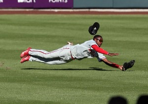 Roman Quinn moved back to the outfield in 2014. (Photo by Bill Mitchell)