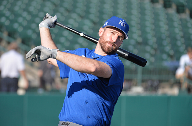 Ike Davis had an RBI single for Israel (Photo by Tomasso de Rosa)