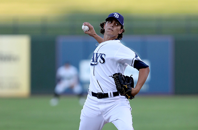Brent Honeywell struck out five of the six batters he faced (Photo by Bill Mitchell)