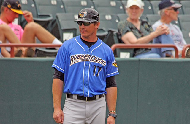 Dave Wallace managed Akron past a 12-game losing skid to win the Eastern League title (Photo by Rodger Wood)