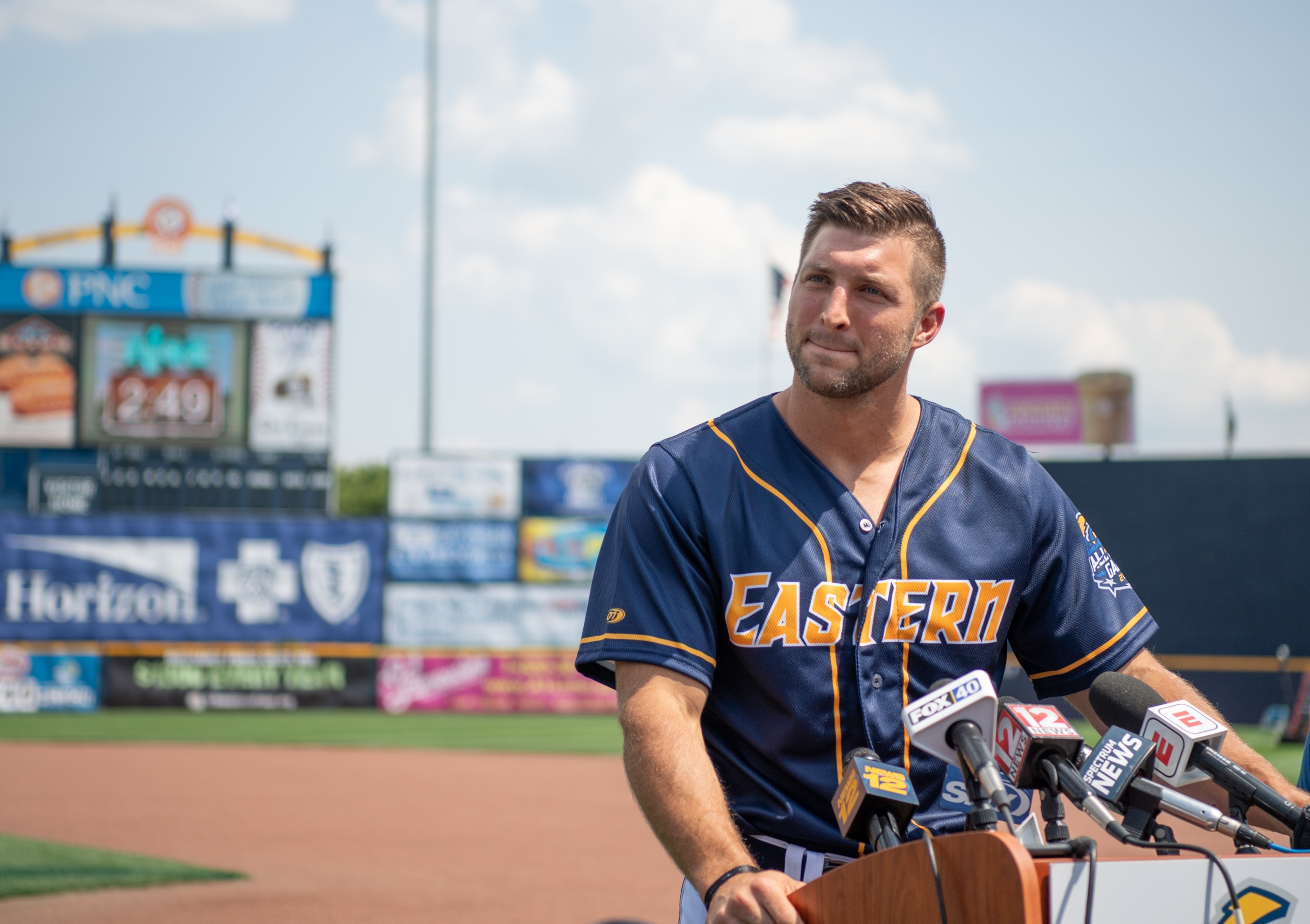official photos a2398 de270 Tim Tebow Appears At 2018 Eastern League Double-A All-Star ...