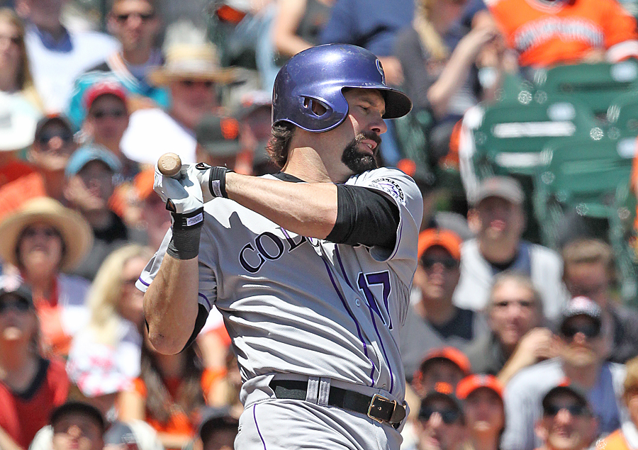 Winding road led helton to rockies summit for Todd helton