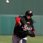 Johnny Cueto (Photo by Bill Mitchell).